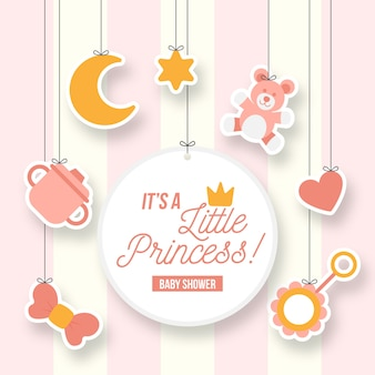 Little princess girl baby shower