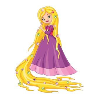 긴 머리를 가진 작은 공주 라푼젤
