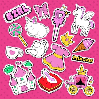 Little princess stickers and patches