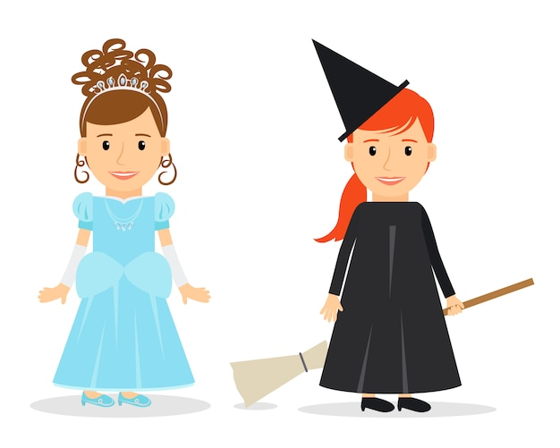 Little princess and witch