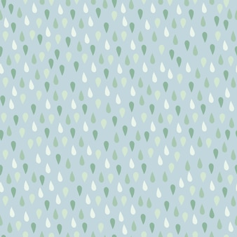 Little raindrop elements seamless pattern.