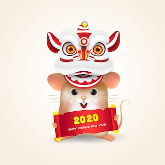 Little rat or mouse chinese new year
