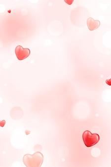 Sfondo di piccolo cuore rosso