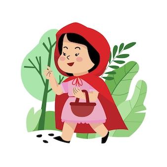 작은 빨간 승마 후드 그림
