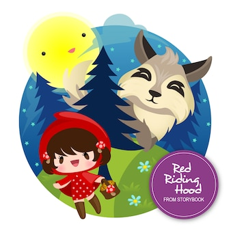 The little red riding hood illustration