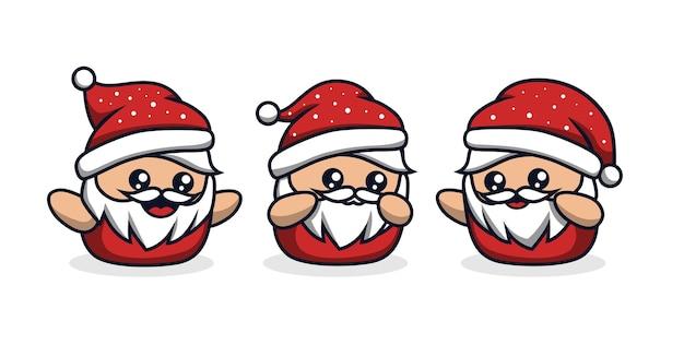 작은 산타 귀여운 만화 의상