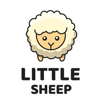 小さな羊のかわいいロゴのテンプレート