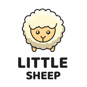 Little sheep cute logo template