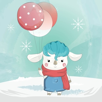 Little Sheep in the Christmas