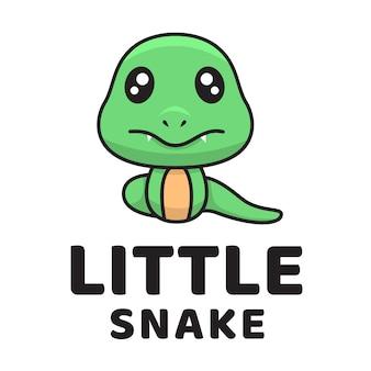 작은 뱀 귀여운 로고 템플릿