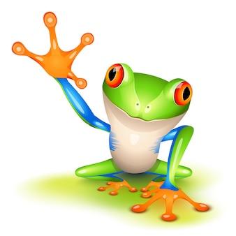 Little tree frog says hello