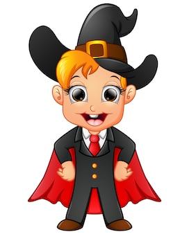 Little witch cartoon posing
