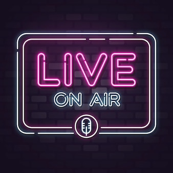 Live on air neon sign