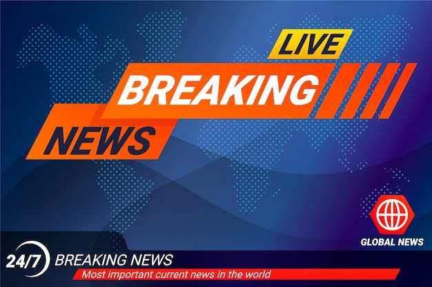 Live breaking news banner template