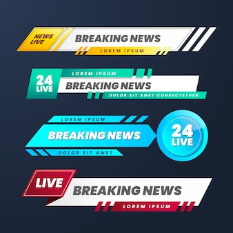 Live breaking news banners