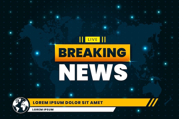 Live breaking news design