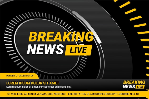 Live breaking news template design