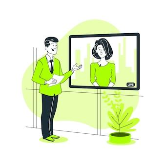 Live collaboration concept illustration