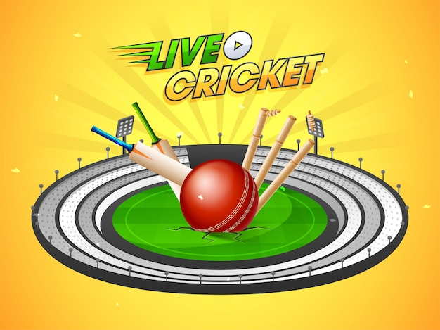 Live cricket match background