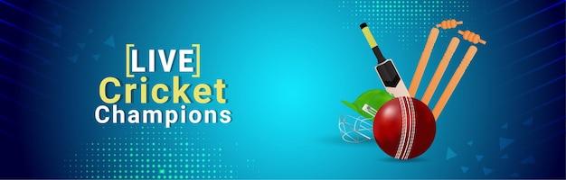 Live cricket tournament banner