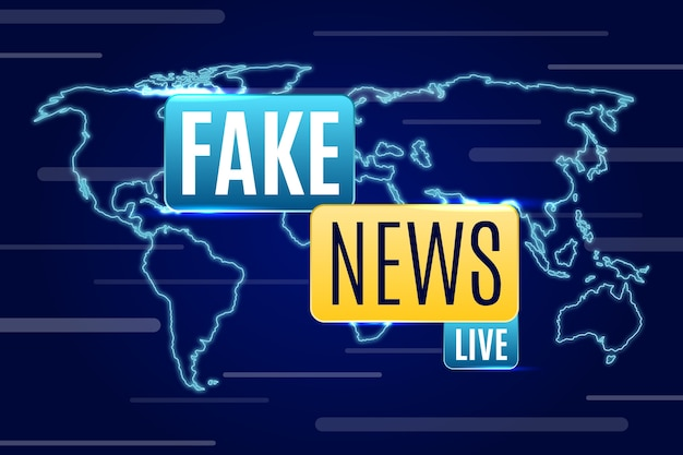 Live fake news broadcast