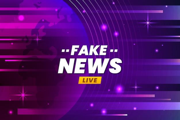 Live fake news broadcasting