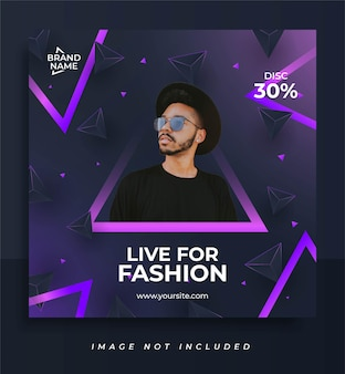 Live for fashion social media post template