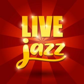 Дизайн живого джазового баннера