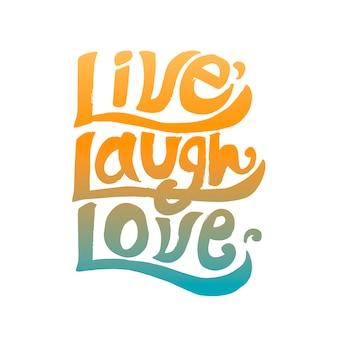 라이브 웃음 사랑 타이포그래피 디자인