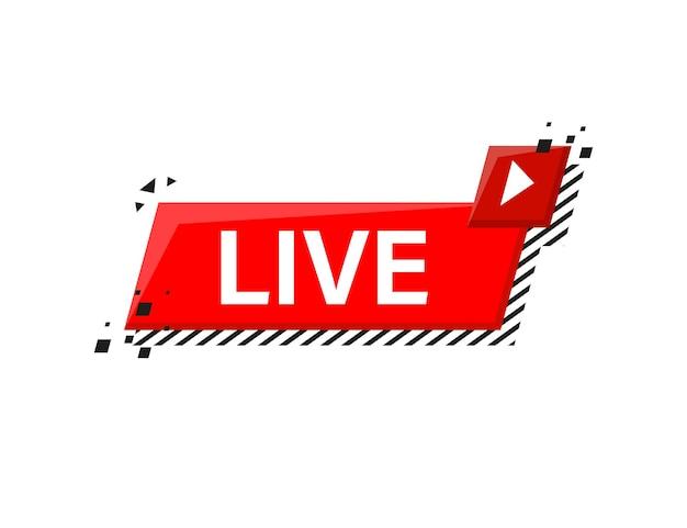 Live logo on white Premium Vector