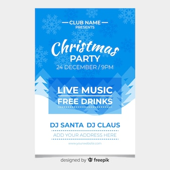 Live music christmas party poster