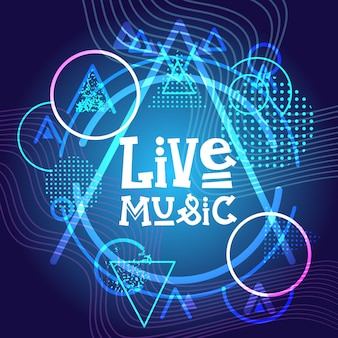 Live music concert poster festival banner