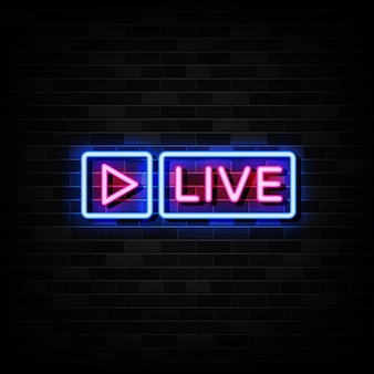 Live neon sign, neon style