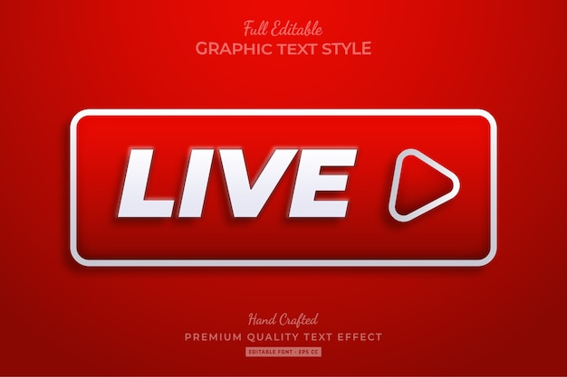 Live play editable text style effect premium
