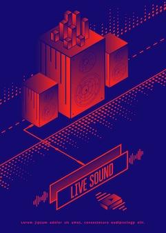 Live sound concert poster design.