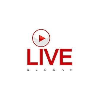 ライブスチームデザインベクトル、tvロゴ