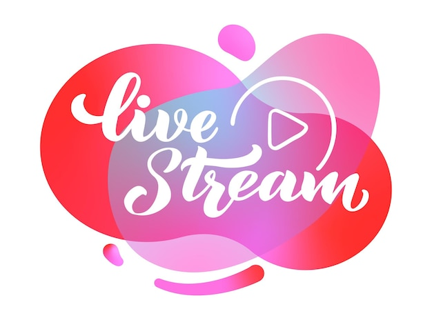 Live stream  hand draw lettering for projects website live stream video chat