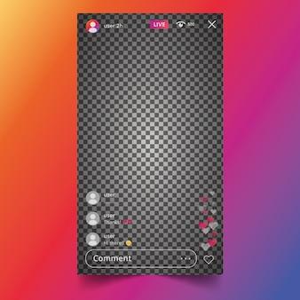 라이브 스트림 인스 타 그램 인터페이스 디자인