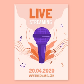 Live stream music concert poster design