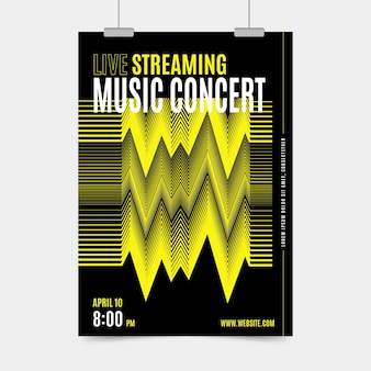 Tema del poster di concerti di musica in diretta streaming