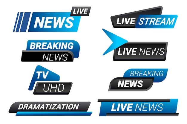 Live stream news banners set