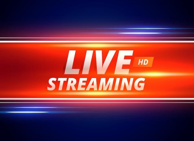 Концептуальный дизайн живой трансляции для новостных каналов