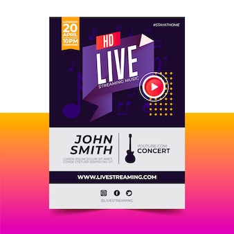 Live streaming music concert poster
