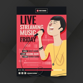 Live streaming music poster