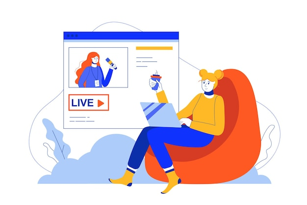 Live streaming web concept