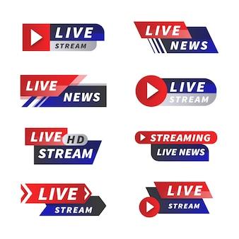 ニュースバナーのライブストリーミング