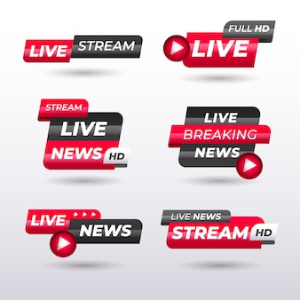 Live streams news banners