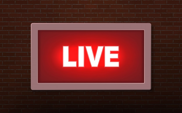 Live studio broadcast light sign