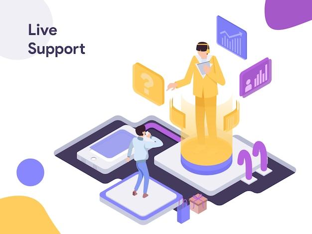 Live support изометрические иллюстрация