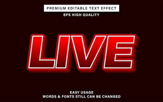 Live text effect